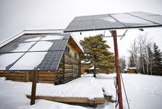 Solar Panels Saskatchewan Royalty Free Stock Images