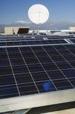 Solar Panels And Satellite Dish Royalty Free Stock Photos