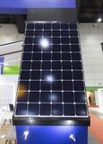 Solar panels Show in an Exhibition;solar energy;eco-friendly tec. Hnology;Bangkok Thailand Stock Photos