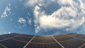 Solar panels. And the sky Royalty Free Stock Image