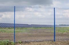 Solar panels on the sky background Stock Photos