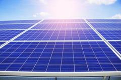 Solar panels on sky. Solar panels on the blue sky Royalty Free Stock Photography