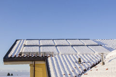 Solar Panels with Snow Stock Photos
