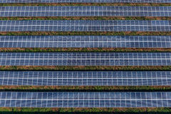Solar panels, solar farms. Solar farm, solar panels aerial view Royalty Free Stock Photo