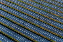 Solar panels, solar farms Royalty Free Stock Images