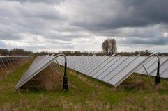 Solar Panels. On a field in Denmark Stock Photos