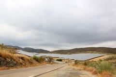 Solar panels in Spanish Andalusia near Nijar Royalty Free Stock Image