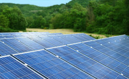 Solar panels station Stock Image