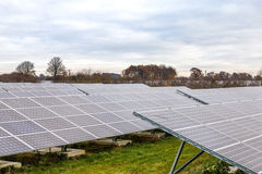 Solar Panels 4. Solar Panels at Sudbury Solar Farm Derbyshire England Royalty Free Stock Photo