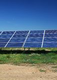 Solar panels sun energy Stock Photo