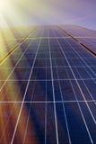 Solar panels in sunlight Stock Images