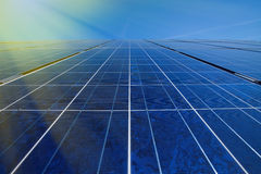 Solar panels in sunlight Royalty Free Stock Images