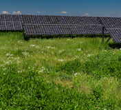 Solar panels on a sunny day Royalty Free Stock Photo