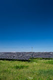 Solar panels on  a sunny day Stock Photos