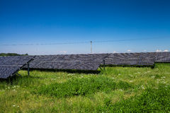 Solar panels on  a sunny day Royalty Free Stock Image