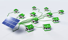 Solar panels supplys the houses Royalty Free Stock Photo