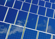 Solar panels system. Green energy from sun. Royalty Free Stock Photography