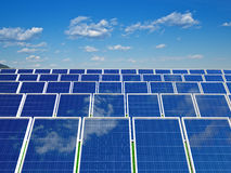 Solar panels system. Green energy from sun. Solar panel . Green energy from sun Stock Photo