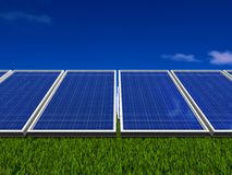 Solar panels system. Green energy from sun. Royalty Free Stock Image
