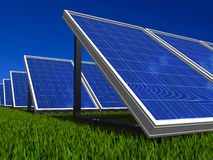 Solar panels system. Green energy from sun. Stock Images