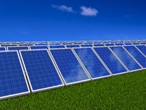 Solar panels system. Green energy from sun. Royalty Free Stock Photos