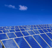 Solar panels system. Green energy from sun. Stock Photo