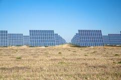 Solar panels team Stock Photos