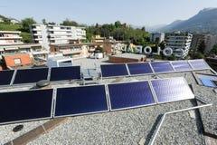 Solar panels technology Stock Images