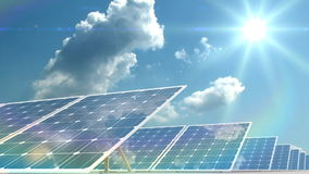 Solar panels stock video footage