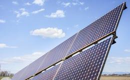 Solar panels to produce green energy. Royalty Free Stock Photography