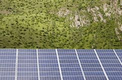Solar panels and trees Royalty Free Stock Image
