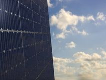 Solar panels under the sky Royalty Free Stock Photography