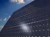 Solar panels under the sky Royalty Free Stock Images