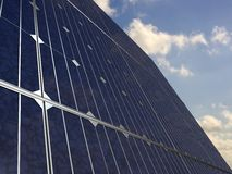 Solar panels under the sky Royalty Free Stock Photo