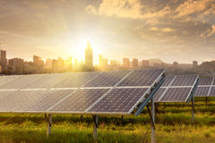 Solar panels under sky Stock Photography