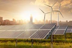 Solar panels under sky Stock Photography