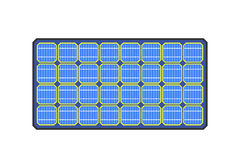 Solar panels vector illustration. Stock Photography