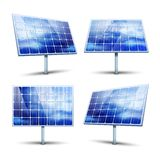 Solar panels. Vector illustration isolated on white Stock Images