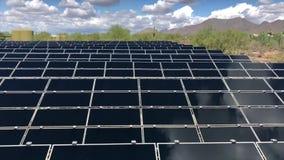Solar panels video footage. Tilt up stock video