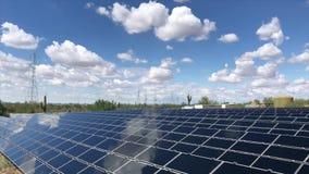 Solar panels video footage. Tilt up stock footage