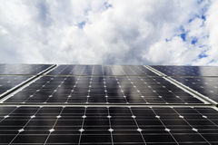 Solar panels. View from above below Royalty Free Stock Images