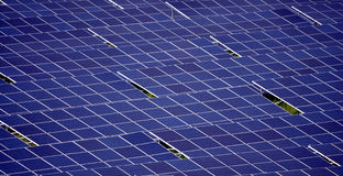 Solar panels. View of the assembly of solar panels Stock Images