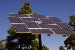 Solar panels at the Visitors Center Royalty Free Stock Photography