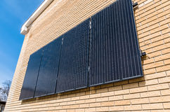 Solar Panels on the wall Stock Image