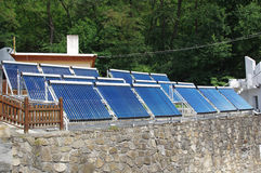 Solar panels for warm water Royalty Free Stock Photography