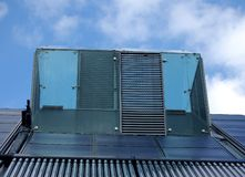 Solar panels and water heating Stock Images