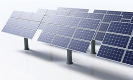 Solar panels in a white background Stock Images