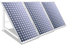 Solar panels white Royalty Free Stock Images