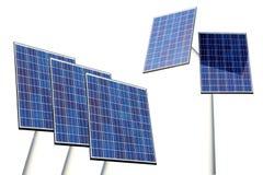 Solar panels on white. Solar panels isolated on white background Stock Photography
