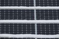 Free Solar Panels With Snow Stock Images - 90065714